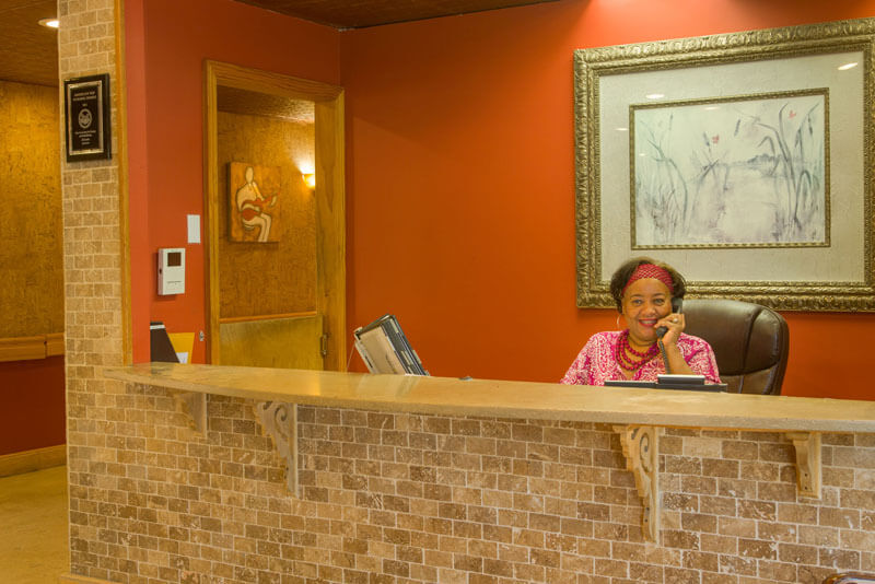 Front desk support at Glen Cove Center for Nursing and Rehabilitation