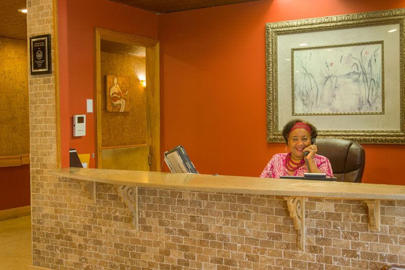Front desk support at Glen Cove Center for Nursing and Rehabilitation