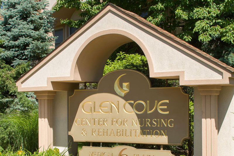 Glen Cove Center for Nursing and Rehabilitation sign